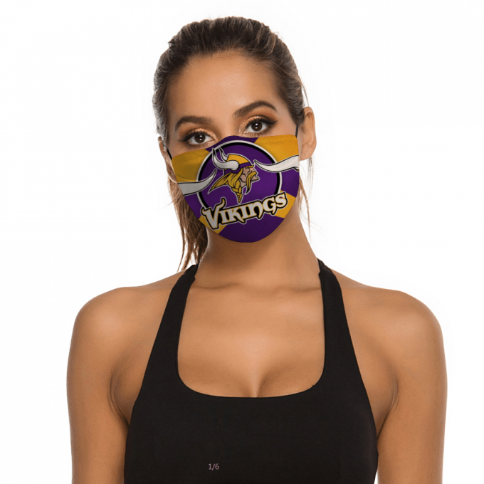 Minnesota Vikings Face Mask + Filters PM2.5