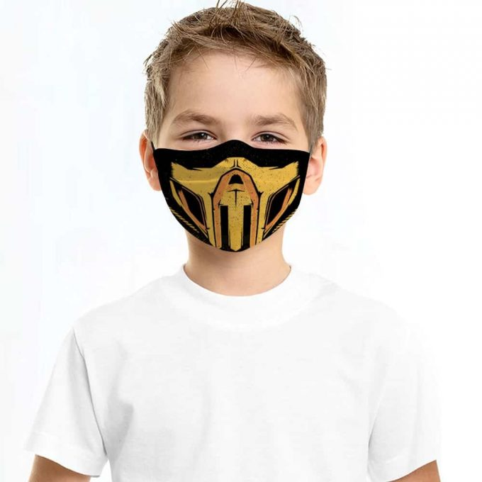 Scorpion Mortal Kombat Face Mask + Filters PM2.5