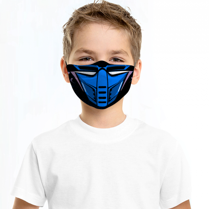 Cyber Sub Zero Mortal Kombat Face Mask + Filters PM2.5