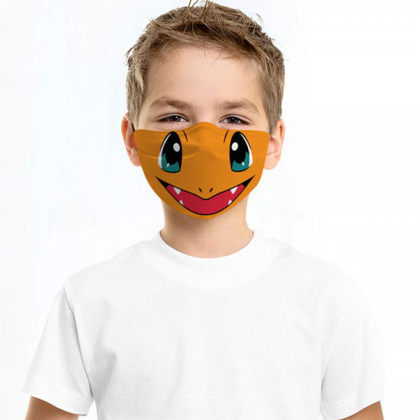 Charmander Pokemon Face Mask + Filters PM2.5