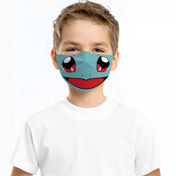 Bulbasaur Pokemon Face Mask + Filters PM2.5 Face Mask + Filters PM2.5 (Copy)