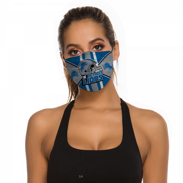 Detroit Lions Face Mask + Filters PM2.5