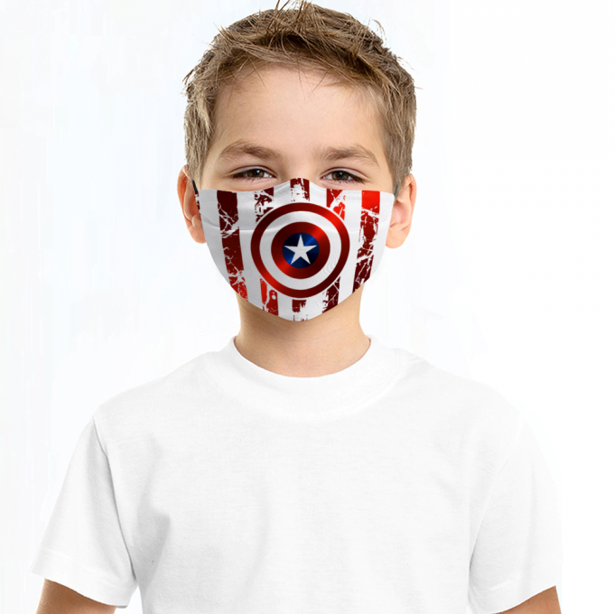 Captain America Face Mask + Filters PM2.5