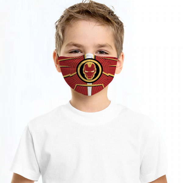 Iron Man Face Mask + Filters PM2.5