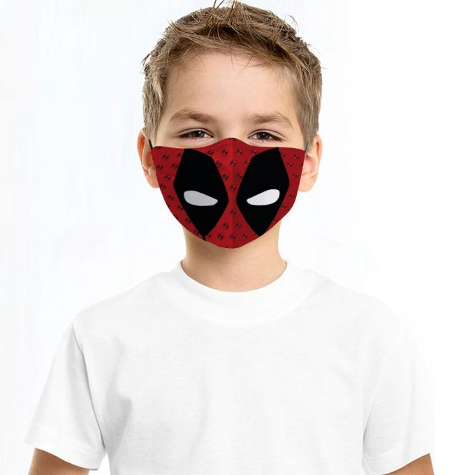 Deadpool Face Mask + Filters PM2.5