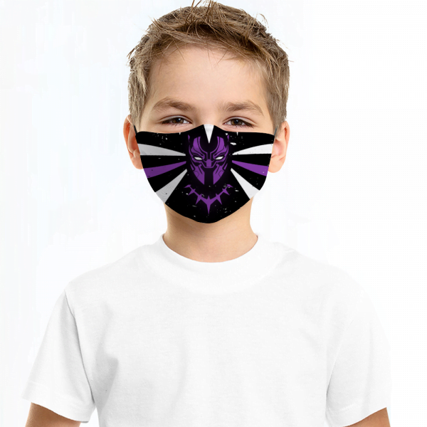 Black Panther Face Mask + Filters PM2.5