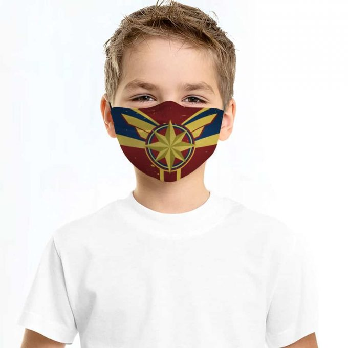 Captain Marvel Face Mask + Filters PM2.5