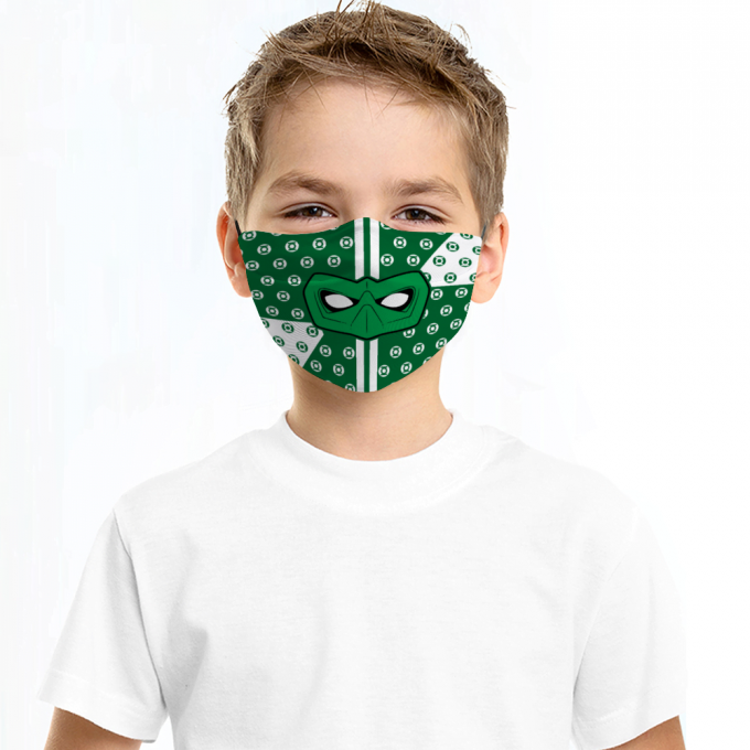 Green Lantern Face Mask + Filters PM2.5