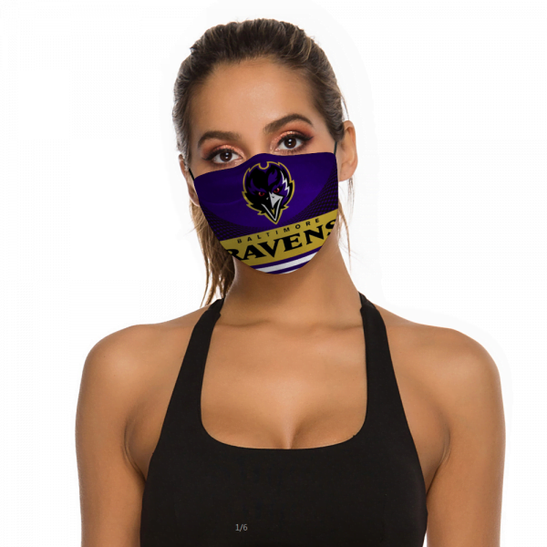 Baltimore Ravens Face Mask + Filters PM2.5