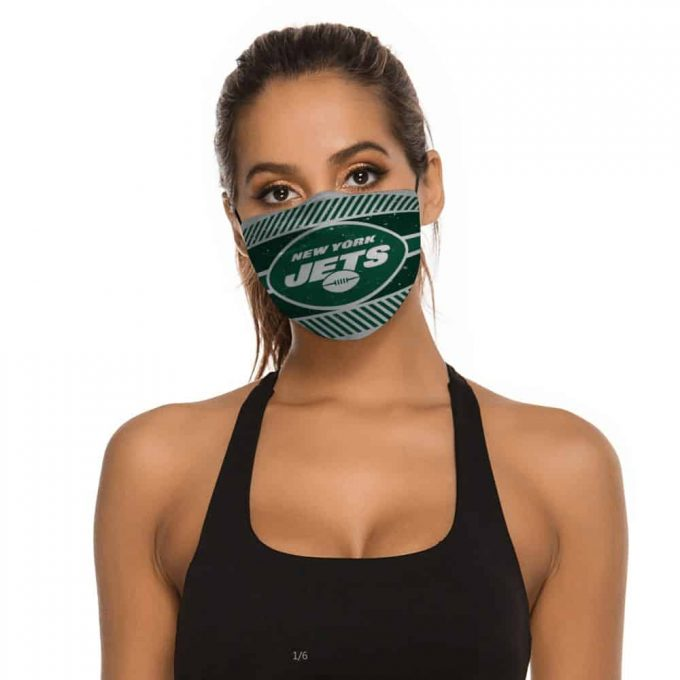 New York Jets Face Mask + Filters PM2.5