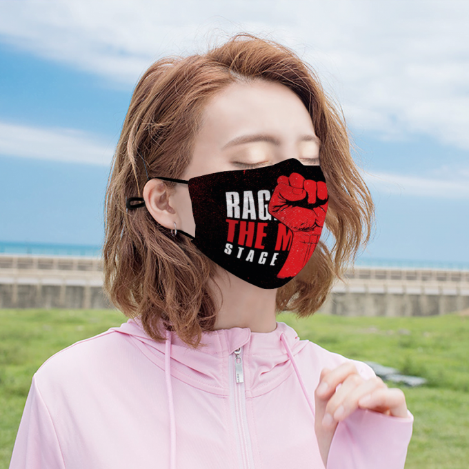 Rage agains the machines Face Mask + Filters PM2.5