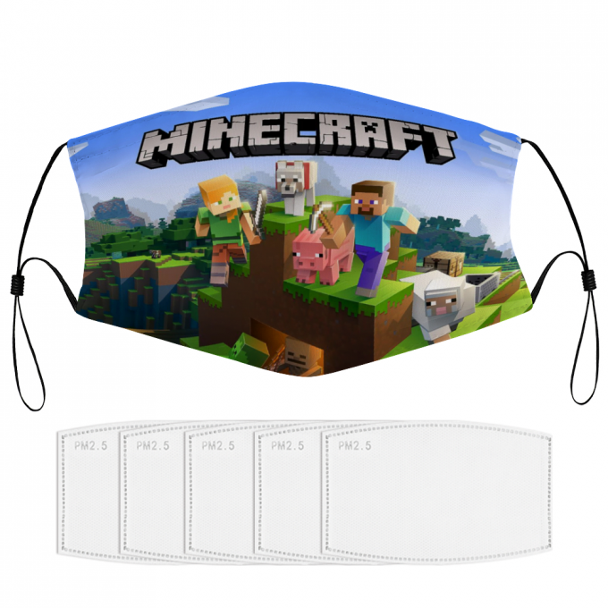 Minecraft Face Mask + Filters PM2.5