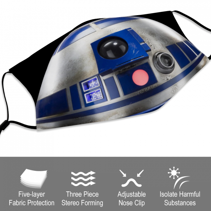 R2-D2 Face Mask + Filters PM2.5