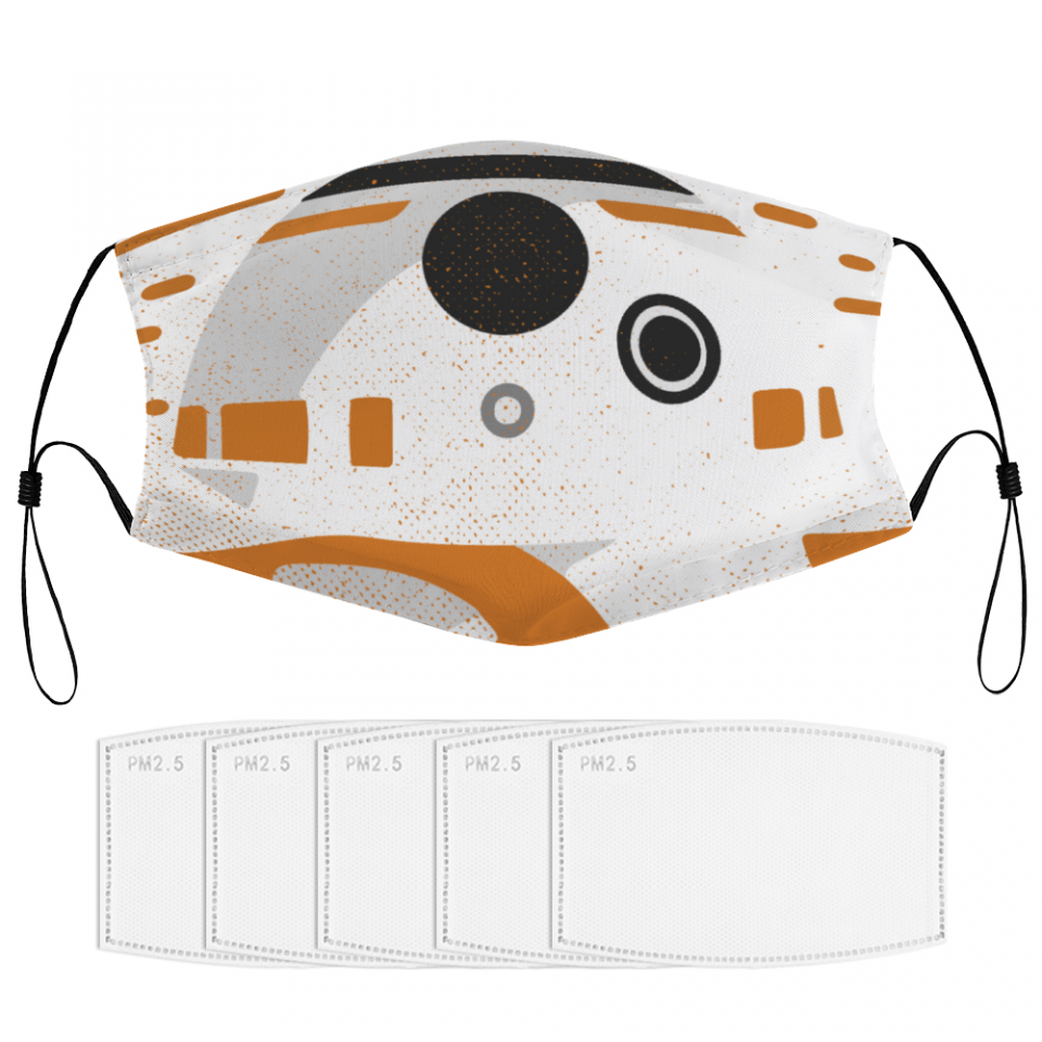 BB-8 Droid Face Mask + Filters PM2.5