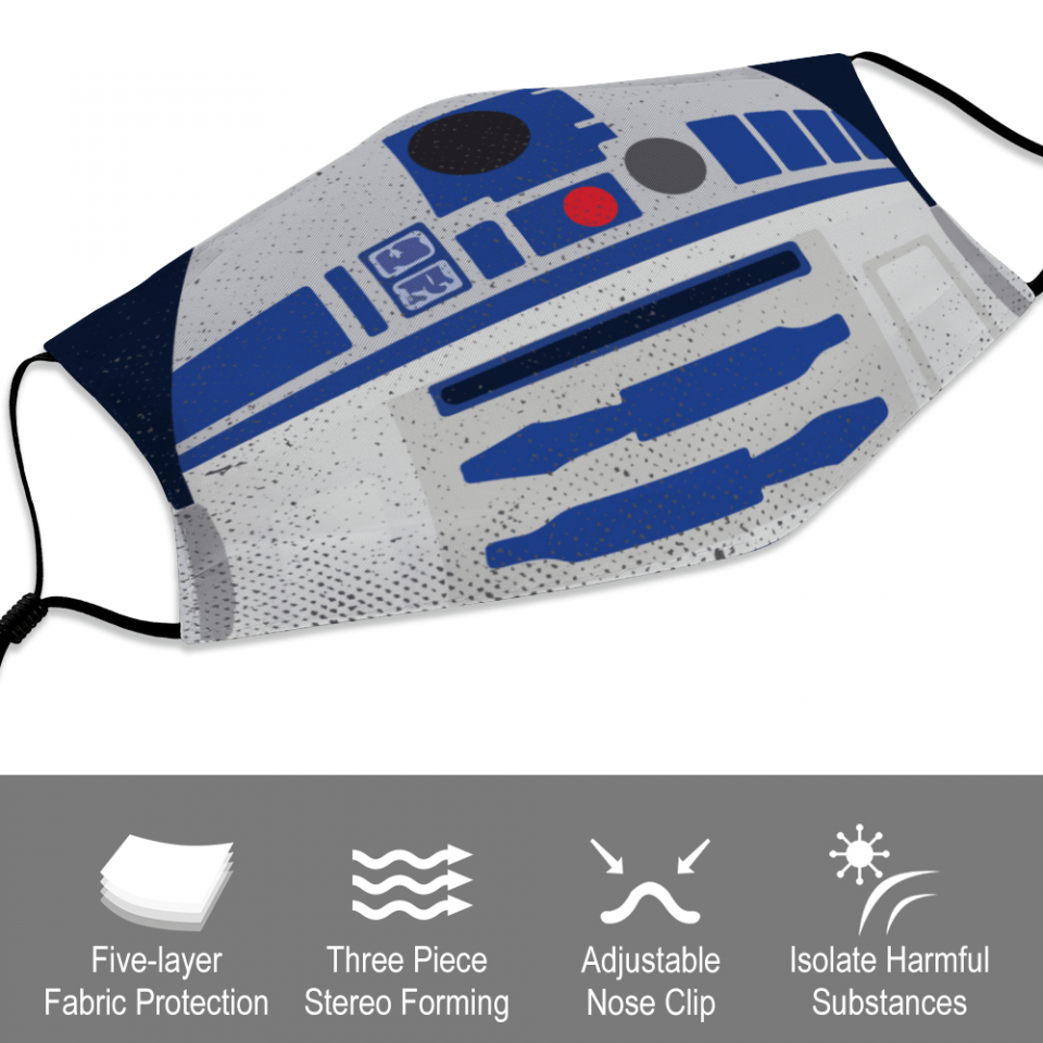 R2-D2 Star Wars Face Mask + Filters PM2.5