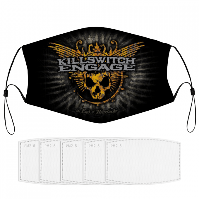 Killswitch Engage Face Mask + Filters PM2.5