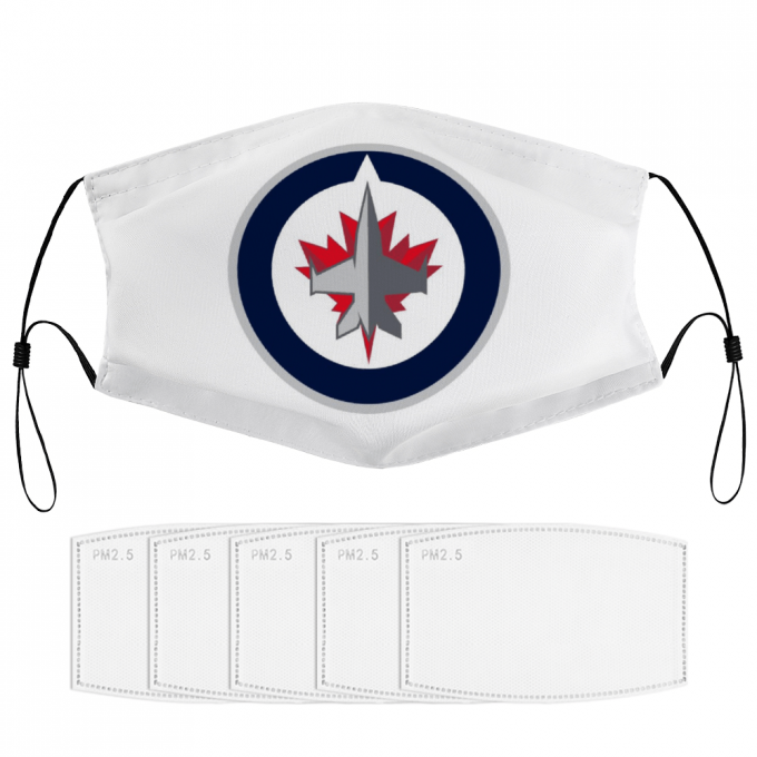 Winnipeg Jets Face Mask + Filters PM2.5