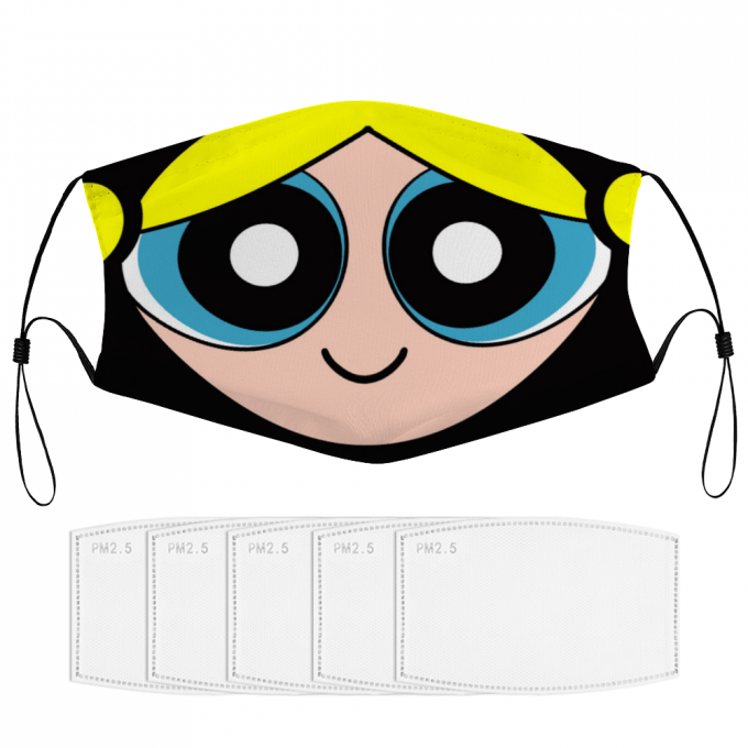 Bubbles Powerpuff Face Mask + Filters PM2.5