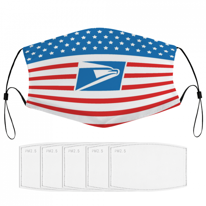 USPS Face Mask + Filters PM2.5