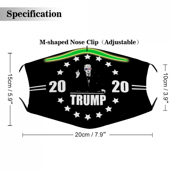 2020 Trump Face Mask + Filters PM2.5