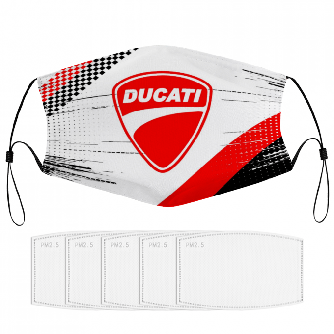 Ducati Face Mask + Filters PM2.5