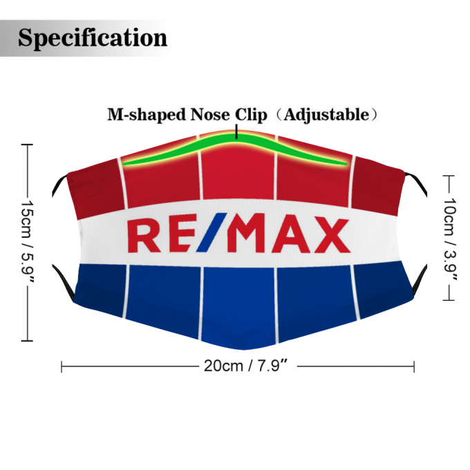 RE/MAX Face Mask + Filters PM2.5