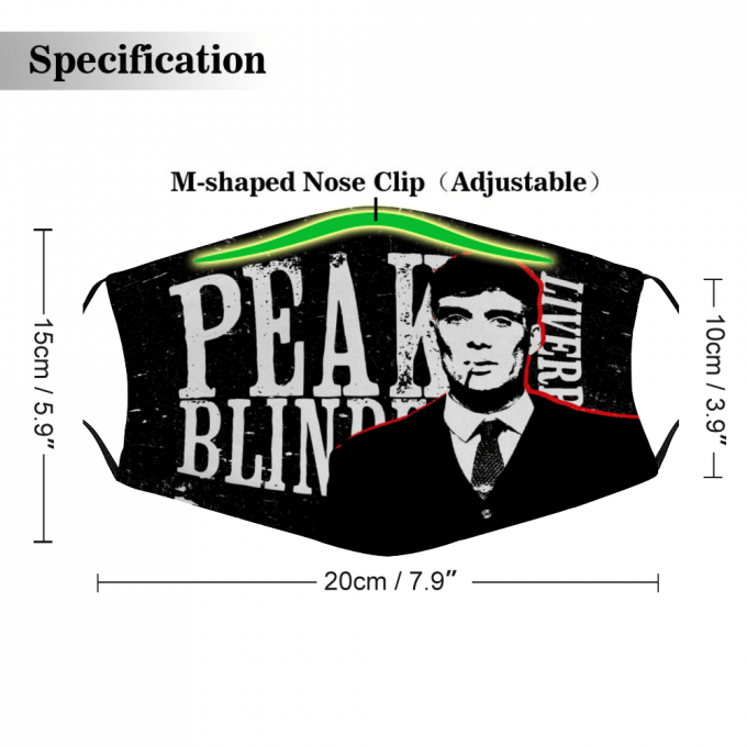 Peaky Blinders Face Mask + Filters PM2.5