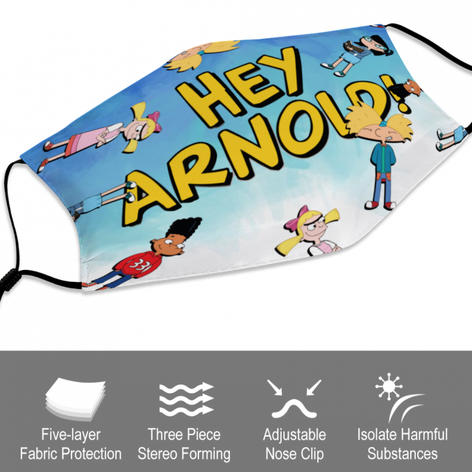 Hey Arnold! Face Mask + Filters PM2.5