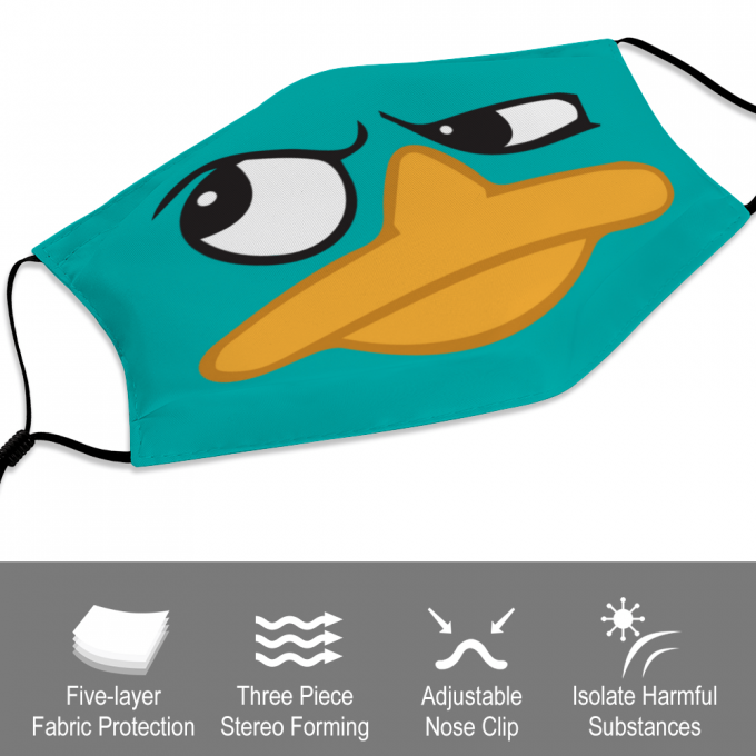 Perry the Platypus Face Mask + Filters PM2.5