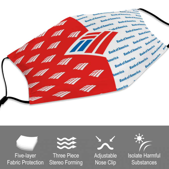 Bank of America Face Mask + Filters PM2.5