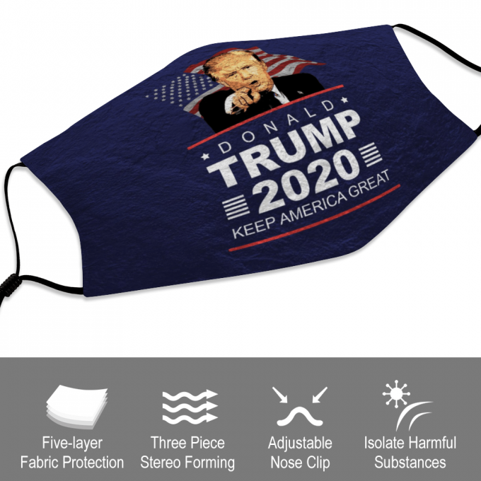 Trump 2020 Face Mask + Filters PM2.5