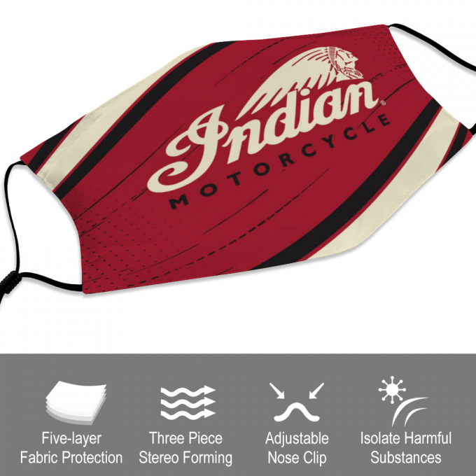 Indian Motorcycle Face Mask + Filters PM2.5