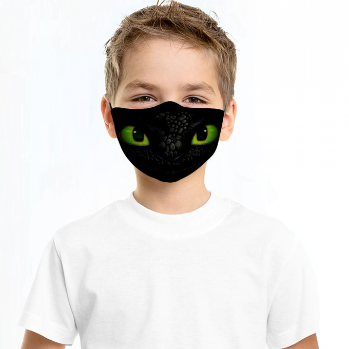 Toothless Face Mask + Filters PM2.5