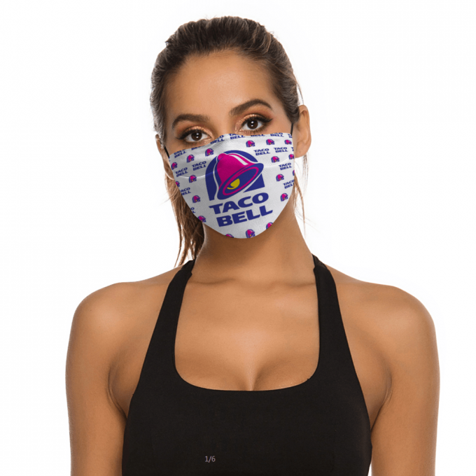 Taco Bell Face Mask + Filters PM2.5