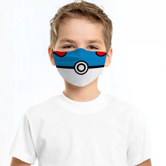 Greatball Pokemon Face Mask + Filters PM2.5