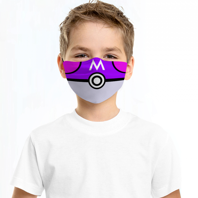 Masterball Pokemon Face Mask + Filters PM2.5