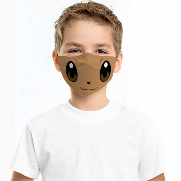 Eevee Pokemon Face Mask + Filters PM2.5