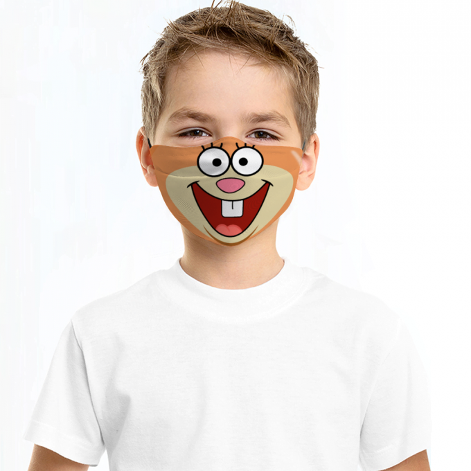 Sandy Cheeks Face Mask + Filters PM2.5