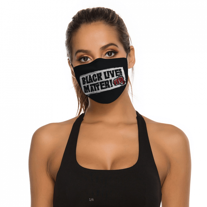 Black Lives Matter Face Mask + Filters PM2.5