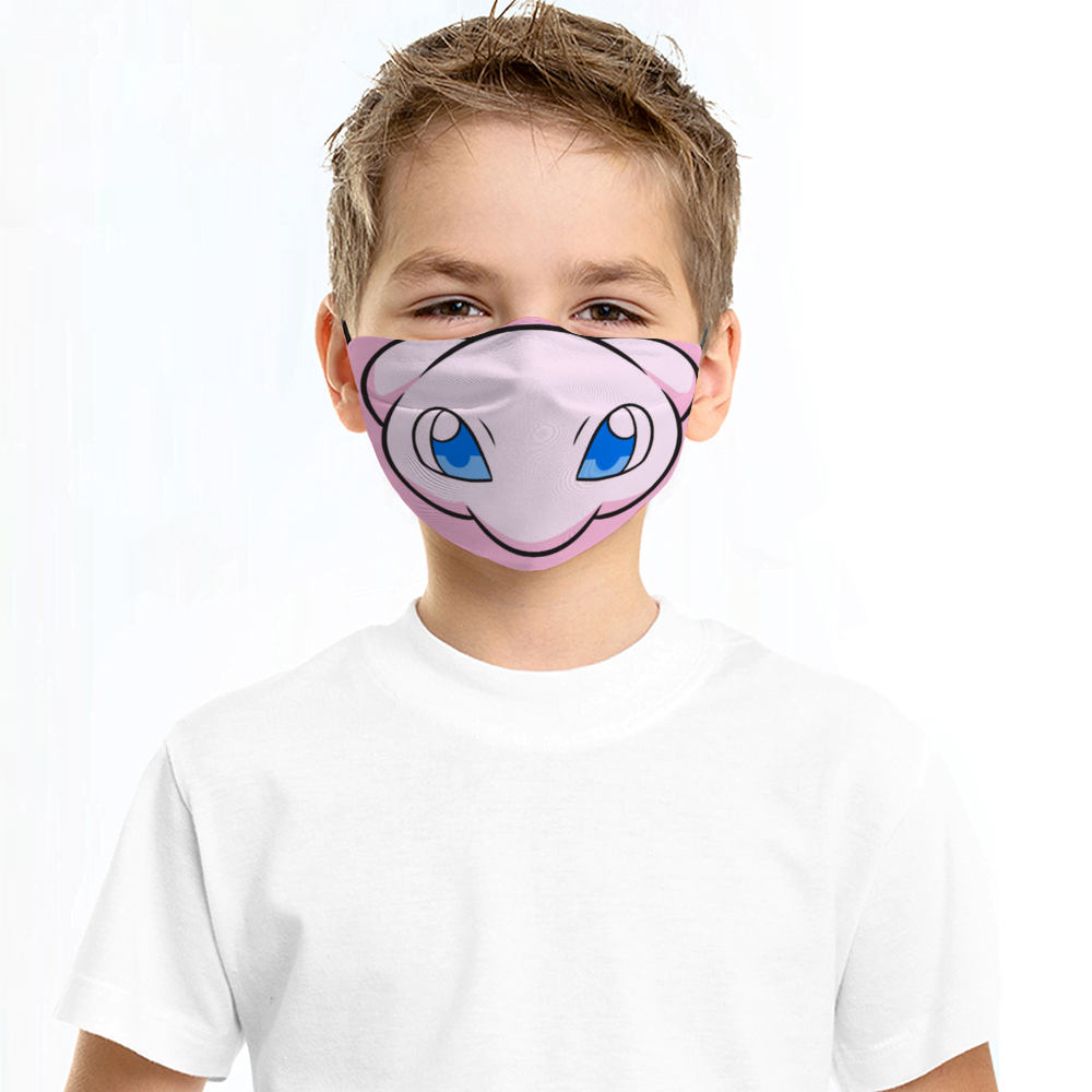 Mew Pokemon Face Mask + Filters PM2.5