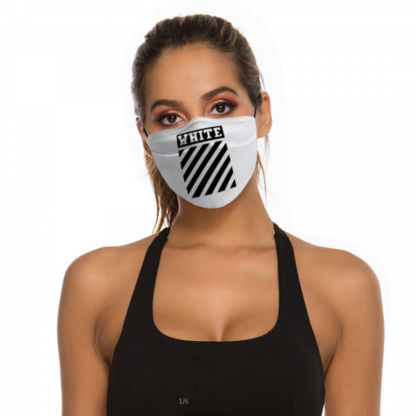 Off White Face Mask + Filters PM2.5