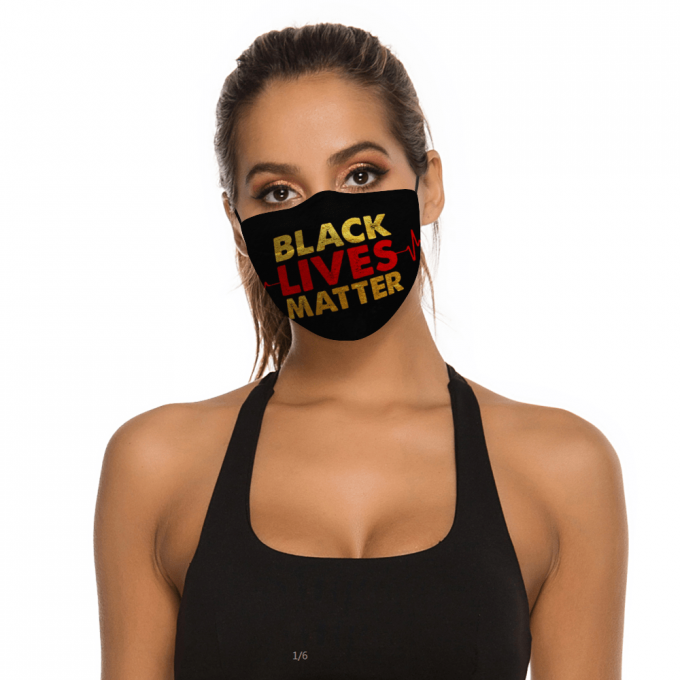 Black Lives Matter BLM Face Mask + Filters PM2.5