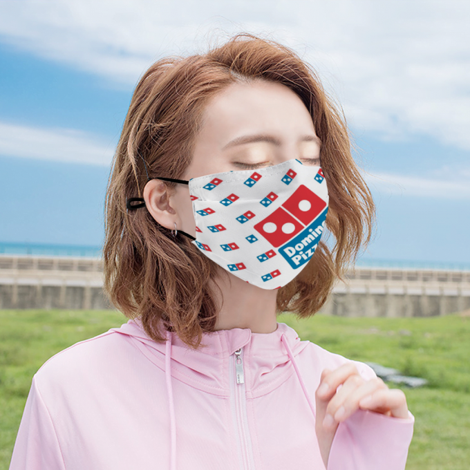 Dominos Pizza Face Mask + Filters PM2.5