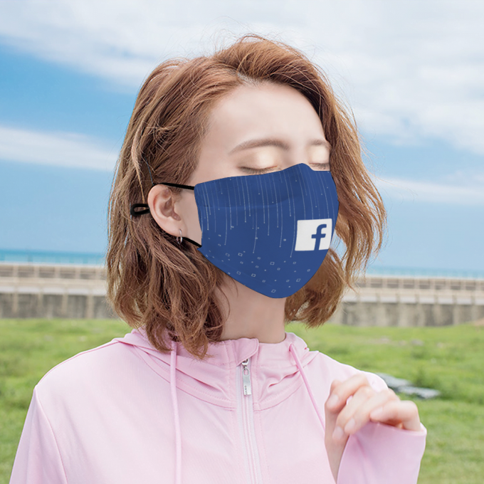 Facebook Face Mask + Filters PM2.5
