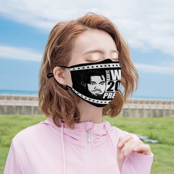 Kanye West for President Face Mask + Filters PM2.5