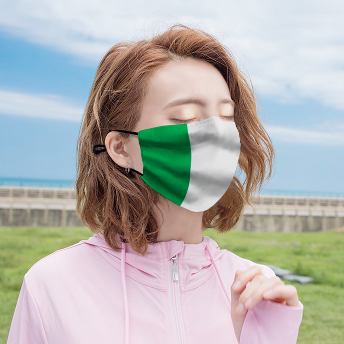 Irish Flag Face Mask + Filters PM2.5