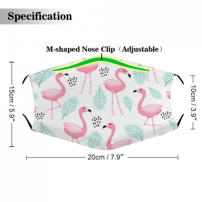 Flamingo Face Mask + Filters PM2.5