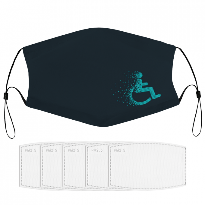 Wheelchair Face Mask + Filters PM2.5