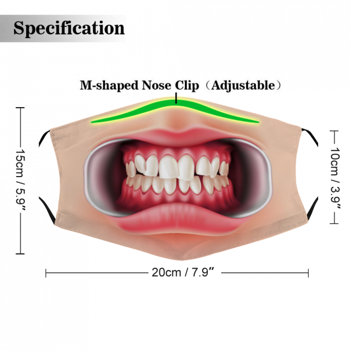 Orthodontic Bite Face Mask + Filters PM2.5