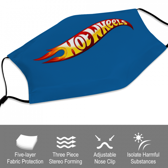 Hot Wheels Face Mask + Filters PM2.5
